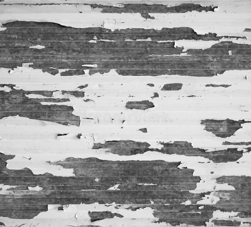 Stara metal powierzchnia z strugać białą farbę i wietrzeć zdjęcie royalty free