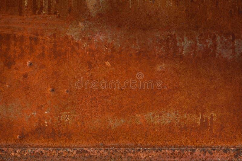Stara metalu żelaza rdzy tekstura, tła Rdzewiałam stal tekstura obrazy stock