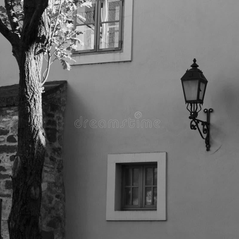 Stara miasto atmosfera z światłem zdjęcie royalty free