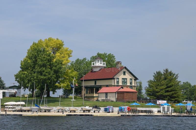 Stara Michigan miasta latarnia morska -3 obraz royalty free