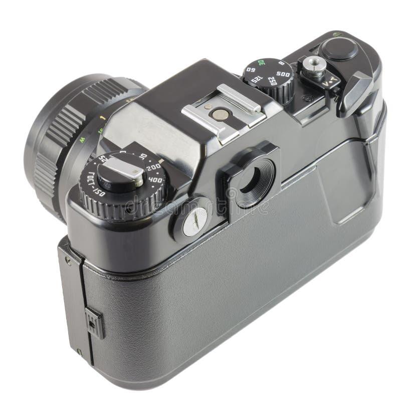 STARA 35mm SLR kamera na białym tle zdjęcie stock