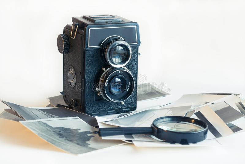Stara moda antyka kamera fotografia royalty free