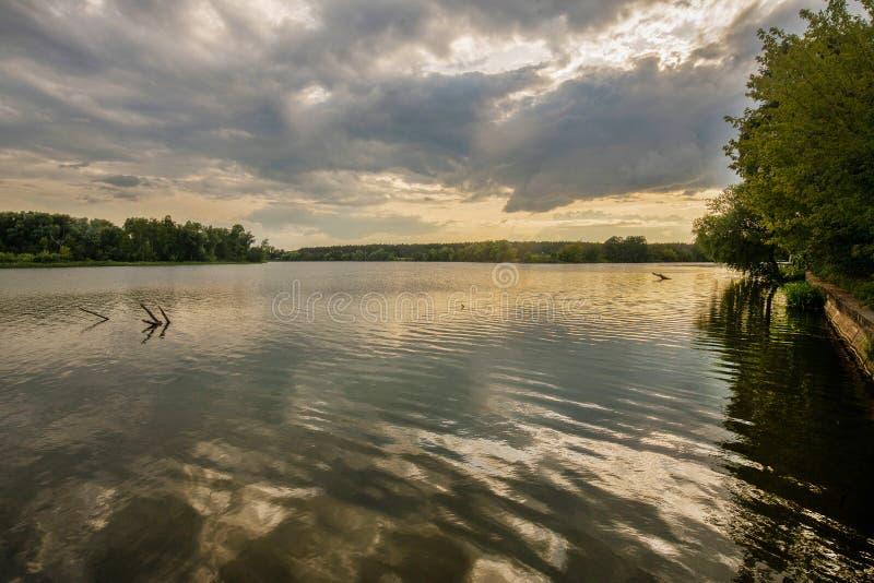 Stara Moskwa rzeka zdjęcia royalty free