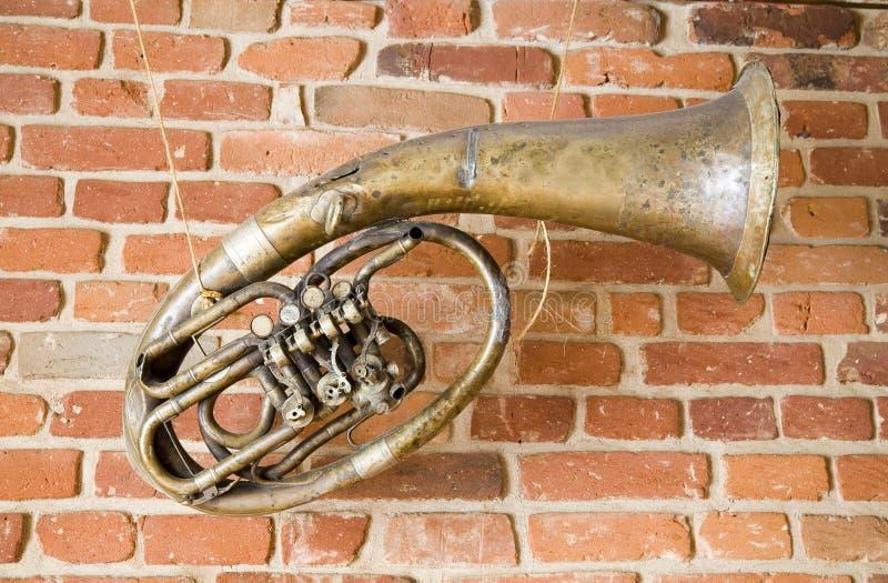 stara muzyczna instrument do ściany zdjęcia royalty free