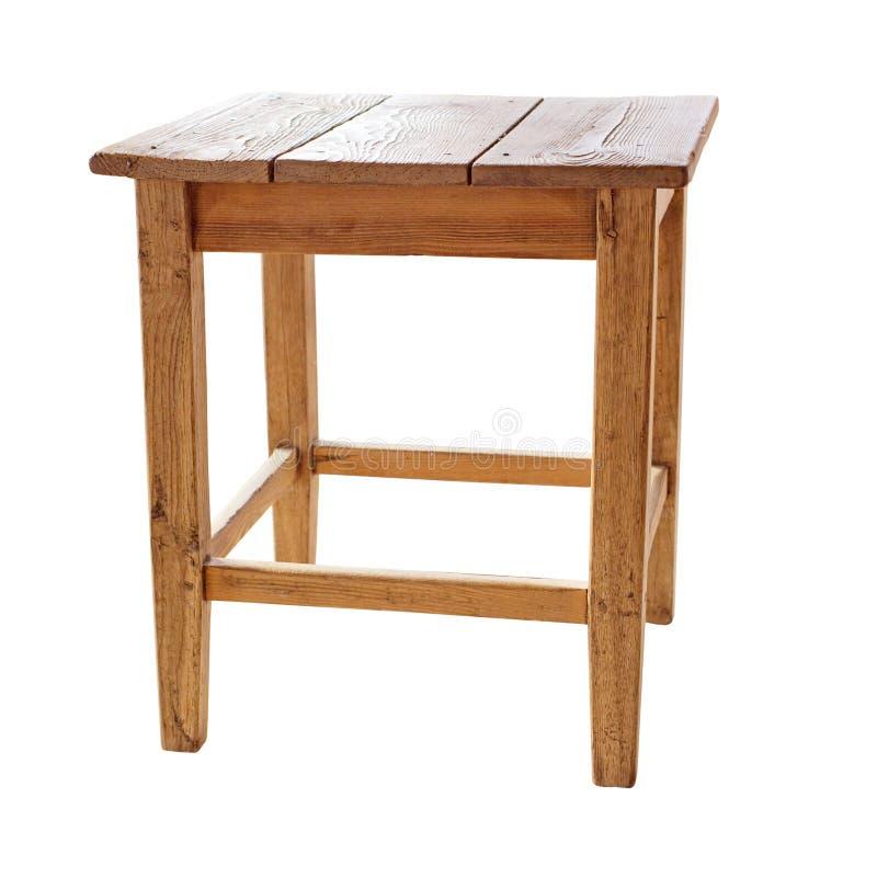 Stara, nieociosana stolec odizolowywająca na białym tle z ścinek ścieżką zawierać, zdjęcie stock