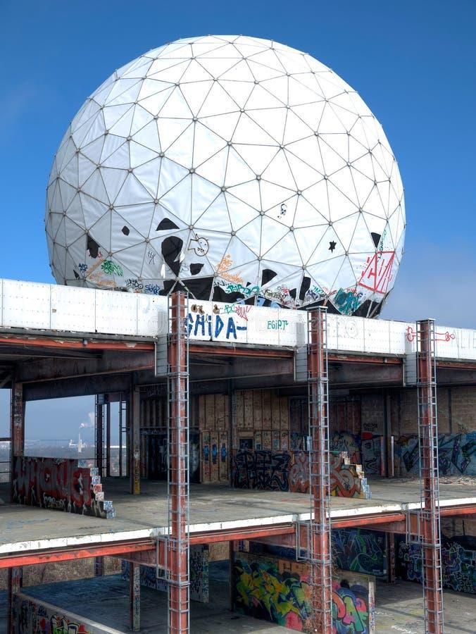 Stara NSA stacja Teufelsberg zdjęcie stock