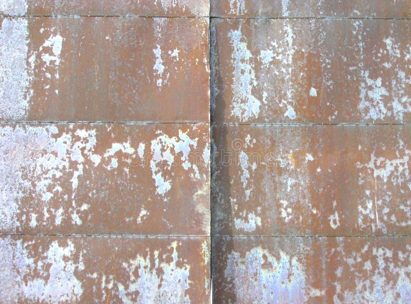 Stara ośniedziała metali prześcieradeł nawierzchniowa tekstura obraz stock