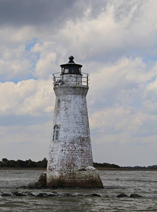 Stara Opustoszała latarnia morska obrazy royalty free