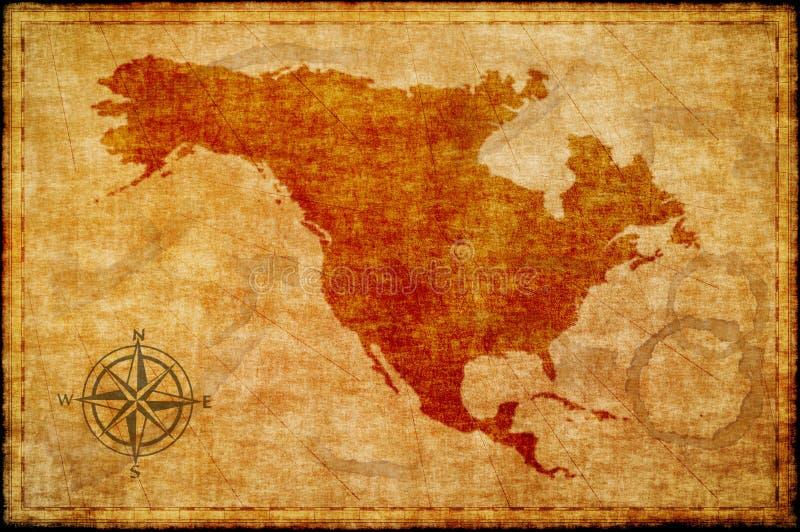 Stara północna America mapa na pergaminie royalty ilustracja