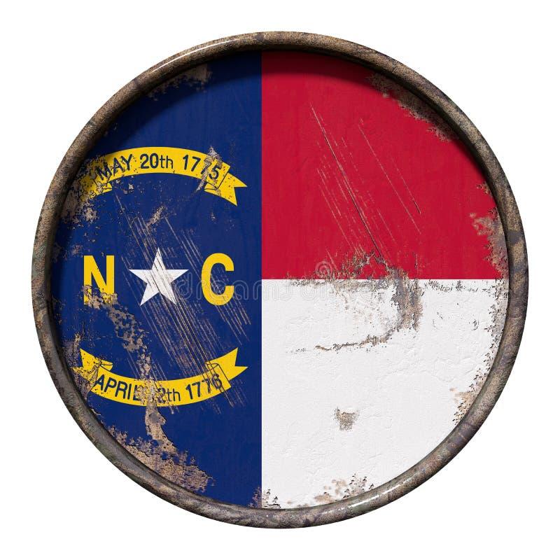 Stara Pólnocna Karolina flaga ilustracja wektor