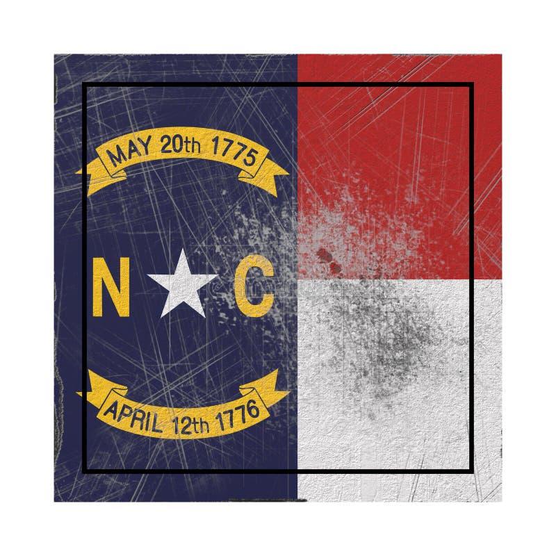Stara Pólnocna Karolina stanu flaga royalty ilustracja
