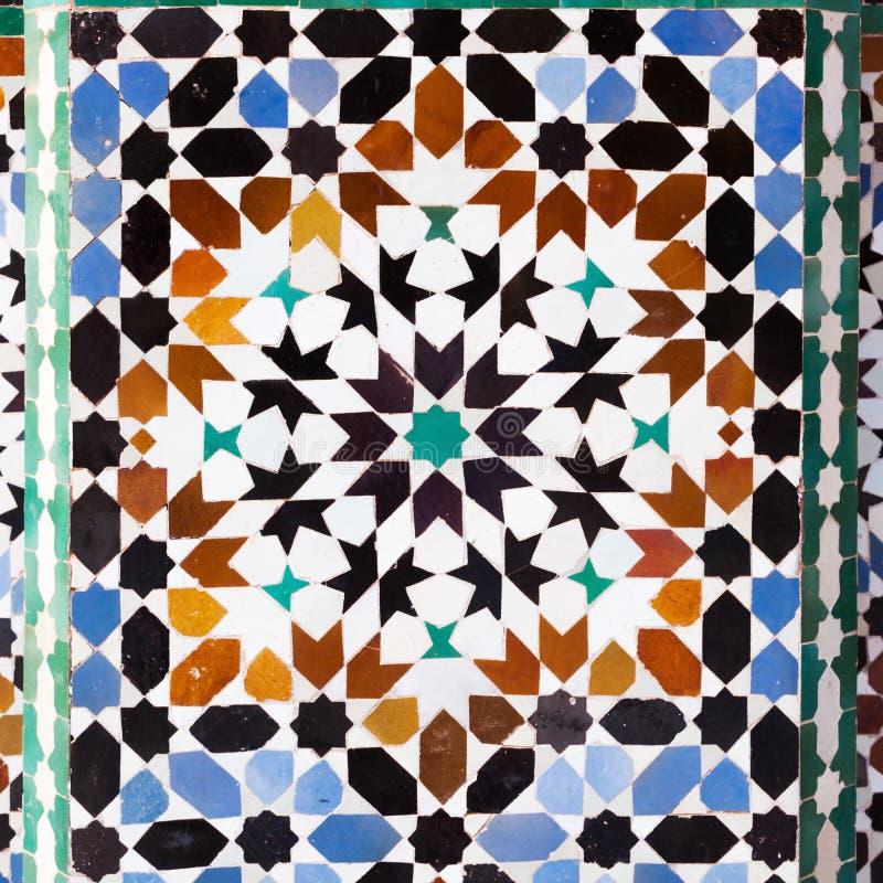 Stara płytka Maroko fotografia stock