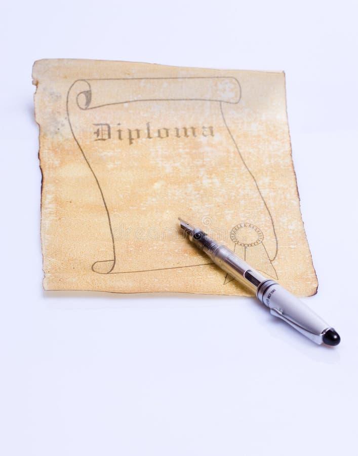 stara papierowa dyplom zwoju zdjęcia royalty free
