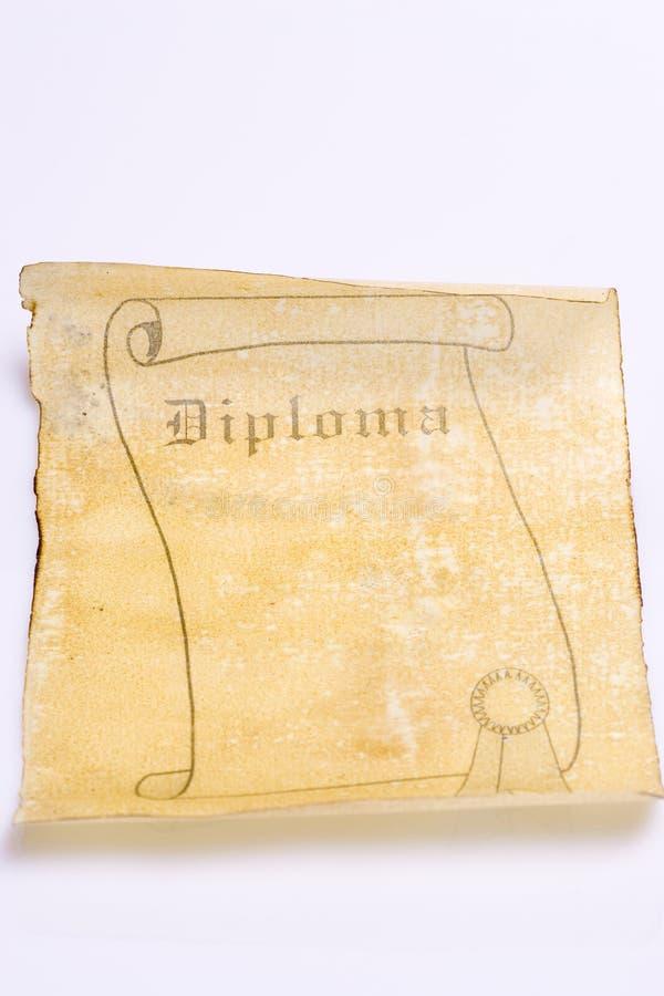 stara papierowa dyplom zwoju zdjęcia stock