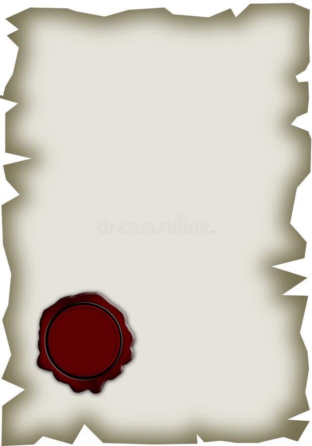 Download Stara papierowa foka ilustracji. Ilustracja złożonej z yellow - 13330884