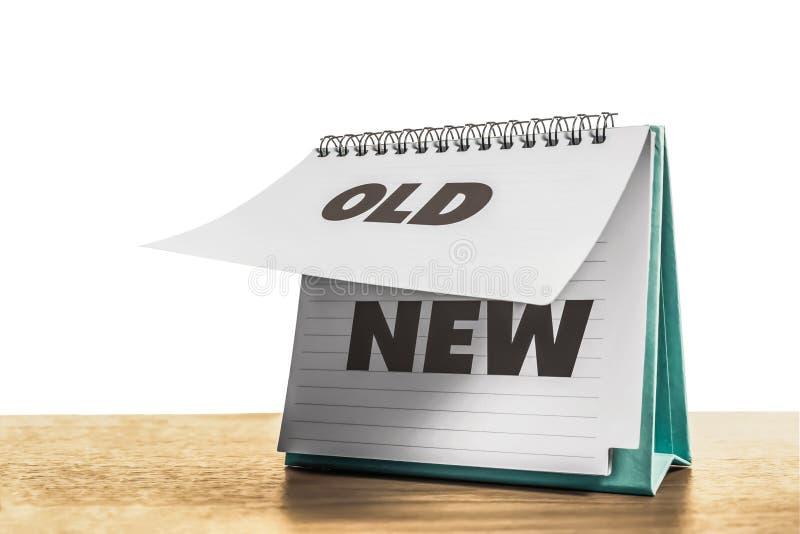 Stara papierowa zmiana nowy papier obraz stock