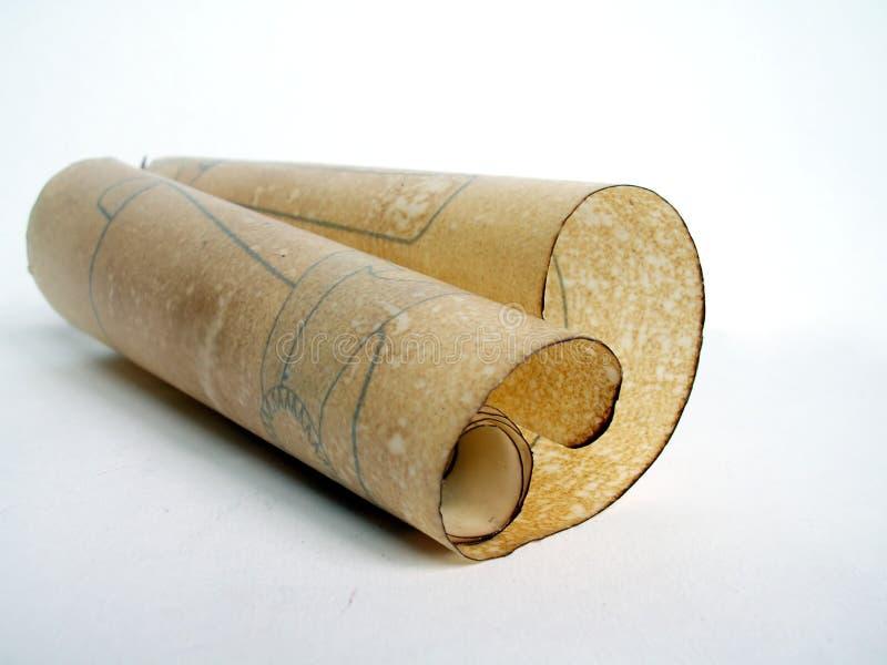 stara papierowa zwoju obrazy stock