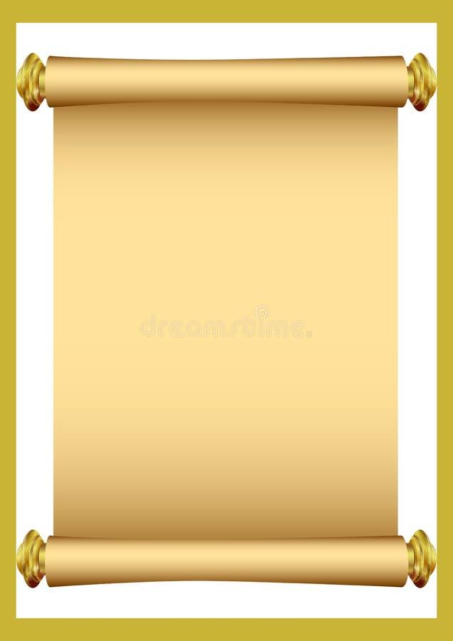 stara papierowa zwoju royalty ilustracja