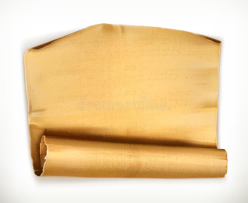 stara papierowa zwoju ilustracji