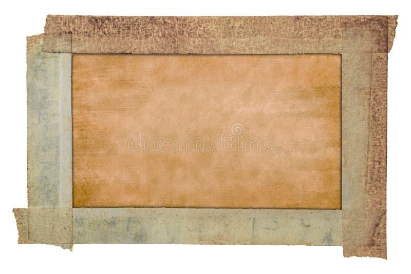 Stara papierowej taśmy rama, rocznik tekstury papierowy tło zdjęcie royalty free