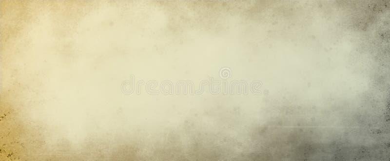 Stara papieru, pergaminu tła ilustracja z lub farby odpryśnięcia plam, uszkadzającego i martwiącego brązu dębnikiem, i zdjęcie stock