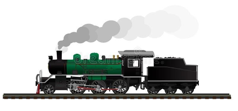 Stara parowa lokomotywa royalty ilustracja