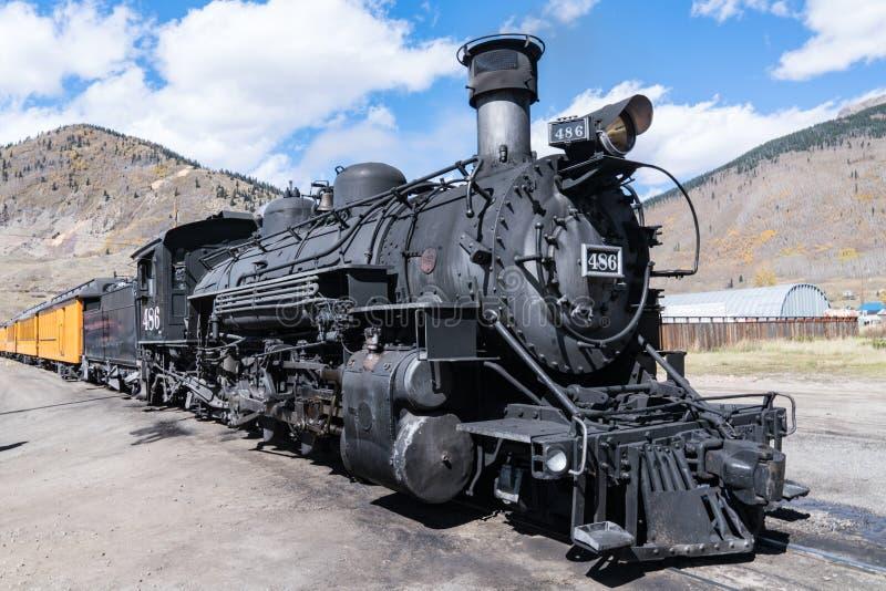 Stara parowa lokomotywa zdjęcie royalty free