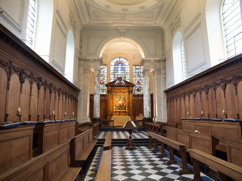 Stara Pembroke szkoły wyższa kaplica Cambridge obraz royalty free