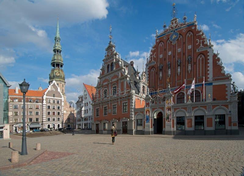 Stara piękna architektura Ryski fotografia royalty free