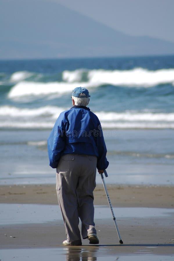 stara plażowa osoba obraz stock