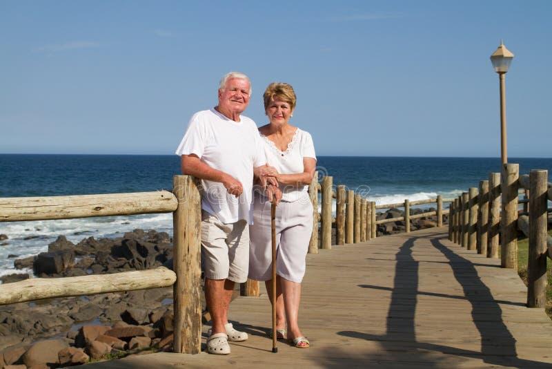 stara plażowa para zdjęcie stock