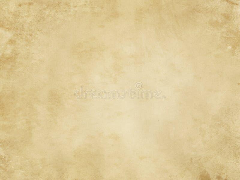 Stara pobrudzona i yellowed papierowa tekstura obrazy stock