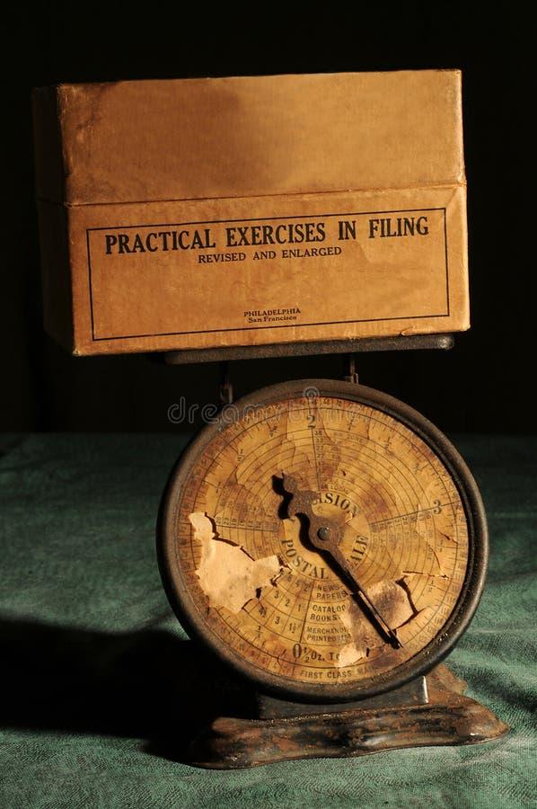 stara pocztowa skala fotografia stock