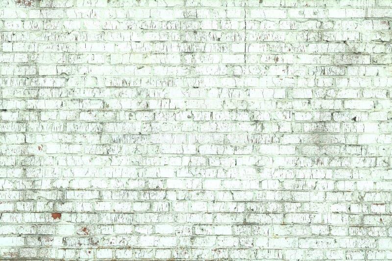 Stara pod?awa ?ciana zielony ceglany kolor jako abstrakcjonistyczny t?o zdjęcie stock