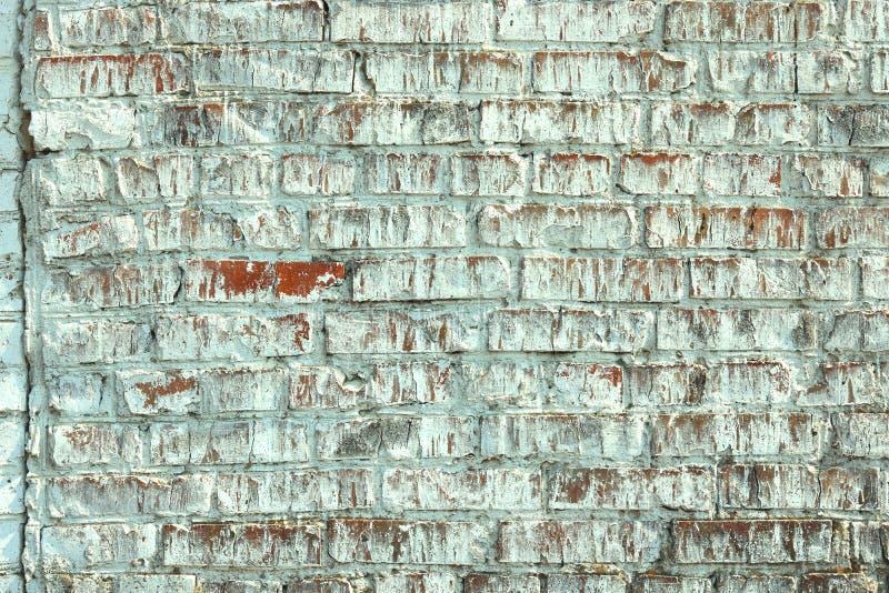 Stara pod?awa ?ciana zielony ceglany kolor jako abstrakcjonistyczny t?o obrazy stock