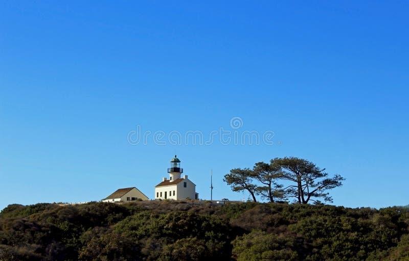 Stara point loma latarnia morska, San Diego zdjęcia royalty free