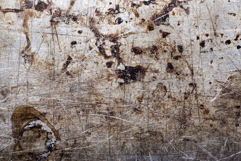 Stara Porysowana metalu Wypiekowego prześcieradła tła tekstura obraz royalty free