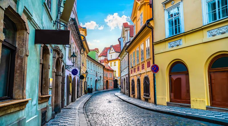 stara Prague street zdjęcie royalty free