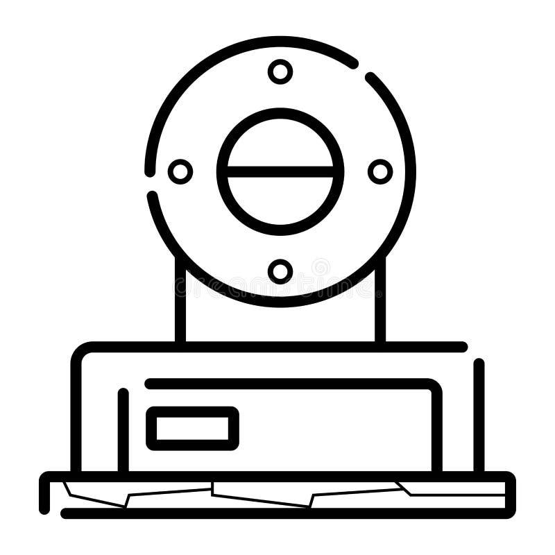Stara radiowa ikona ilustracja wektor