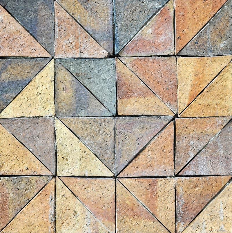 Stara rocznika earthenware ściana tafluje wzory handcraft od Thailand społeczeństwa obraz royalty free