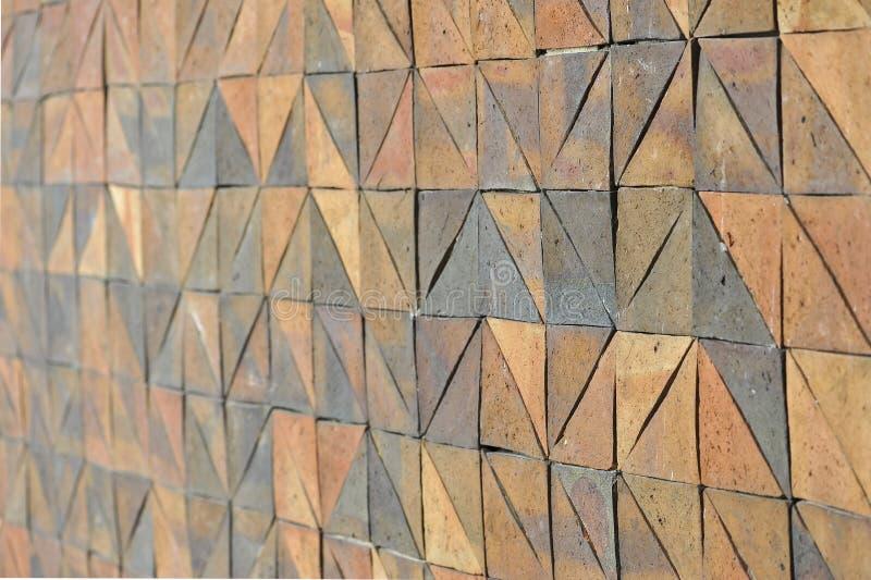 Stara rocznika earthenware ściana tafluje wzory handcraft od Thailand społeczeństwa zdjęcia royalty free