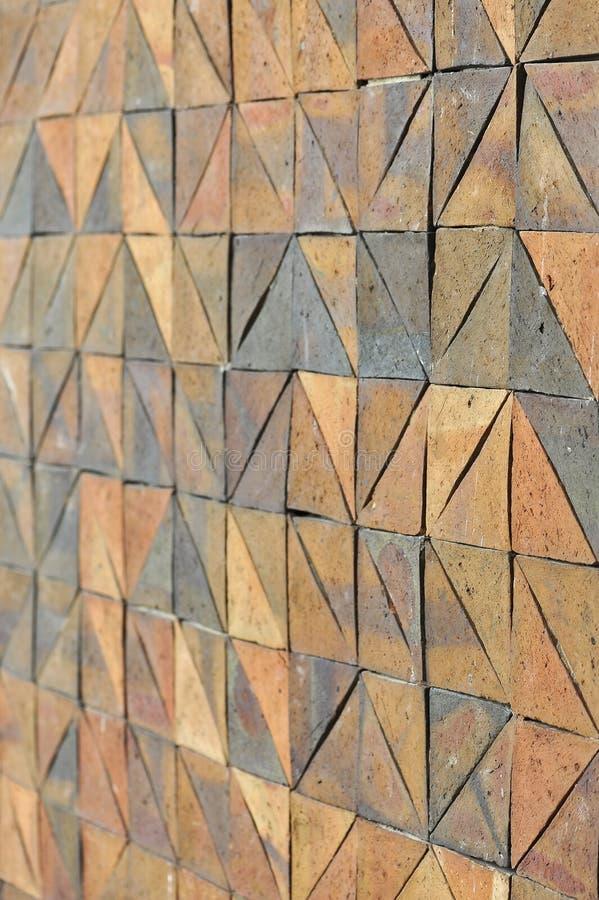 Stara rocznika earthenware ściana tafluje wzory handcraft od Thailand społeczeństwa zdjęcie royalty free
