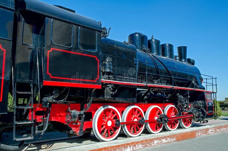 Stara Rosyjska parowa lokomotywa (Radziecka) zdjęcie stock