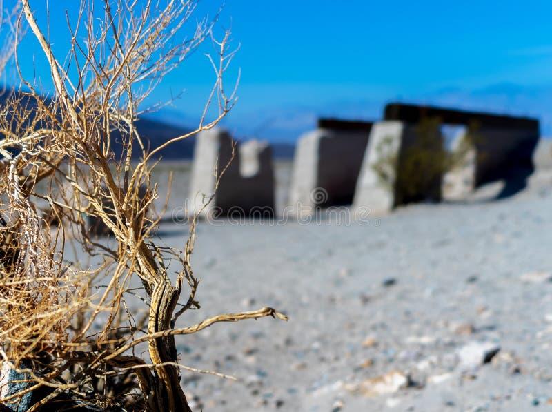 Stara ruina w Śmiertelnej dolinie obraz stock
