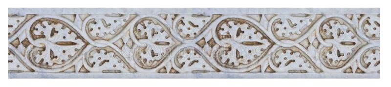Stara rzeźbiąca kamień rama na białym tle dla łatwego wyboru, fotografia royalty free
