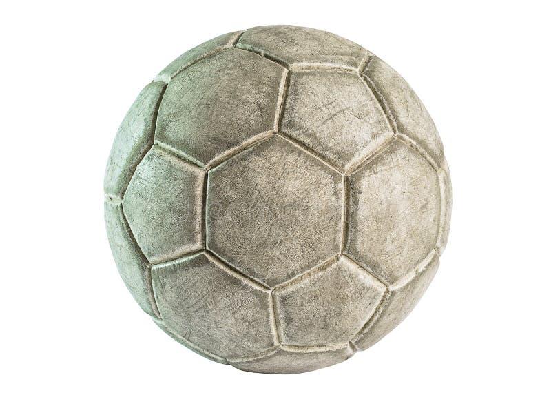 Stara rzemienna piłka odizolowywająca zdjęcie stock