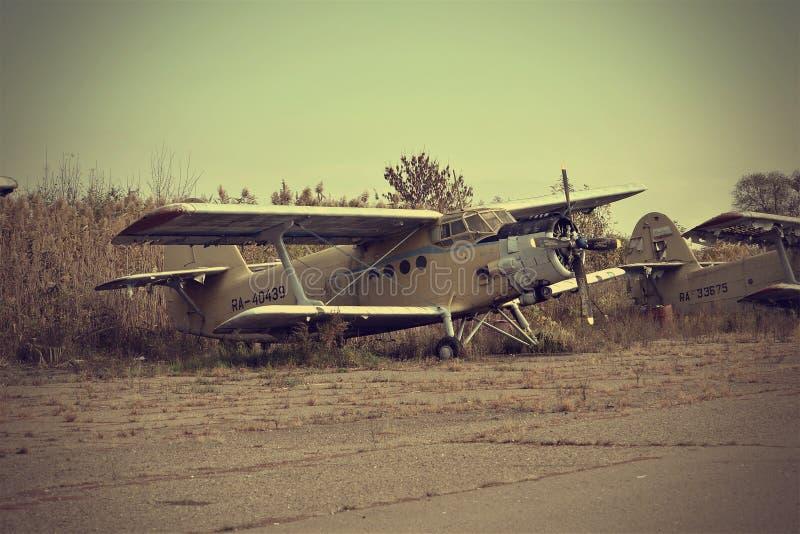 Stara samolotowa historia USSR An2 Antonov obrazy stock
