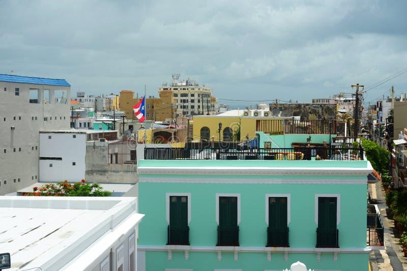Stara San Juan miasta linia horyzontu, Puerto Rico obrazy stock