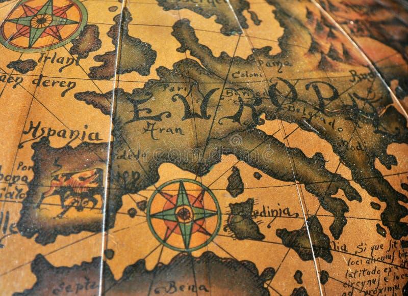 Stara sepiowa Europa mapa fotografia stock