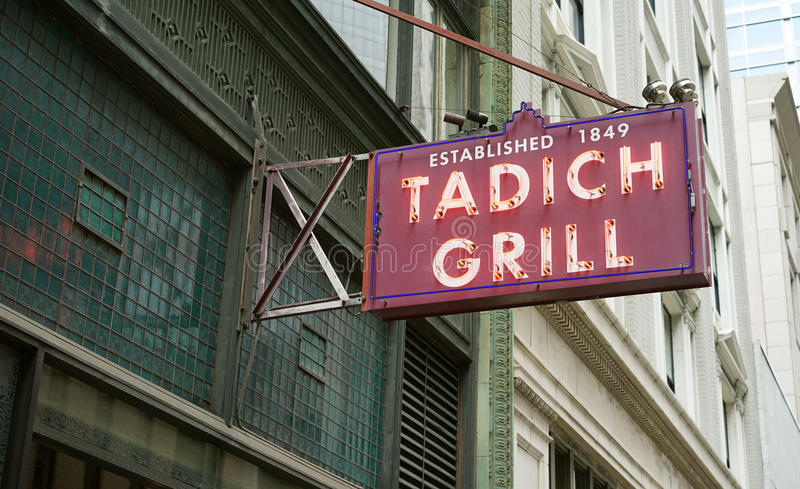 Stara SF restauracja jest najlepszy zdjęcia stock